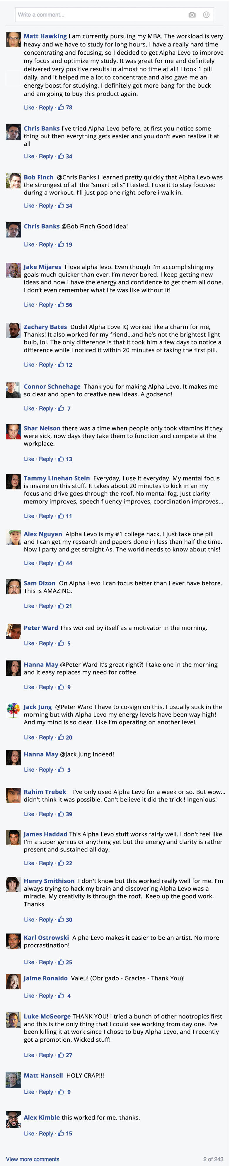 an image of facebook testimonials about prolazyme