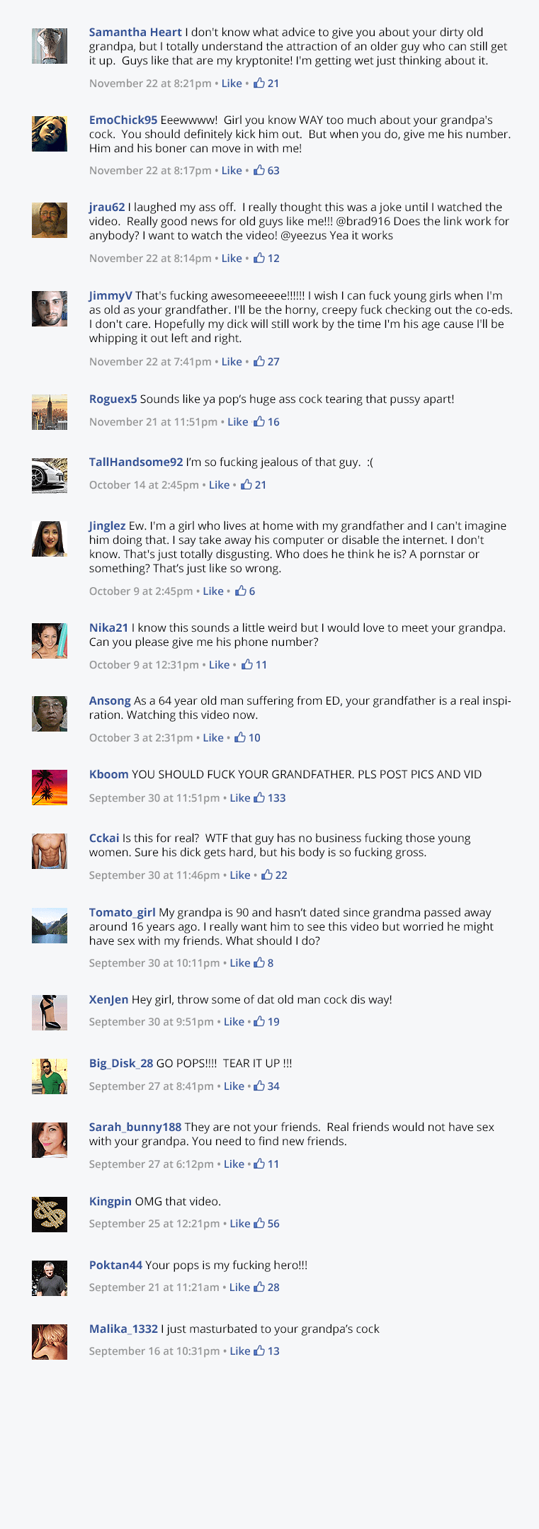 an image of facebook comments